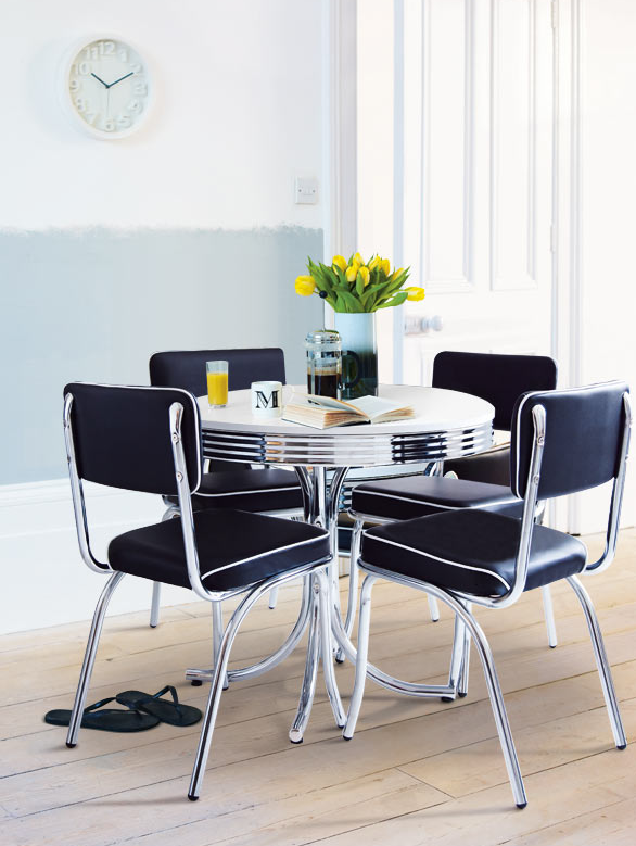 Monochrome Dining Room Proof That Your Table And Chairs Dont Have To