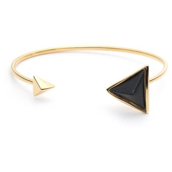 Alexis Bittar Faceted Pyramid Cuff Bracelet (1,055 MXN) ❤ liked on Polyvore featuring jewelry, bracelets, black, hinged cuff bracelet, alexis bittar bangle, alexis bittar jewelry, facet jewelry and cuff bangle