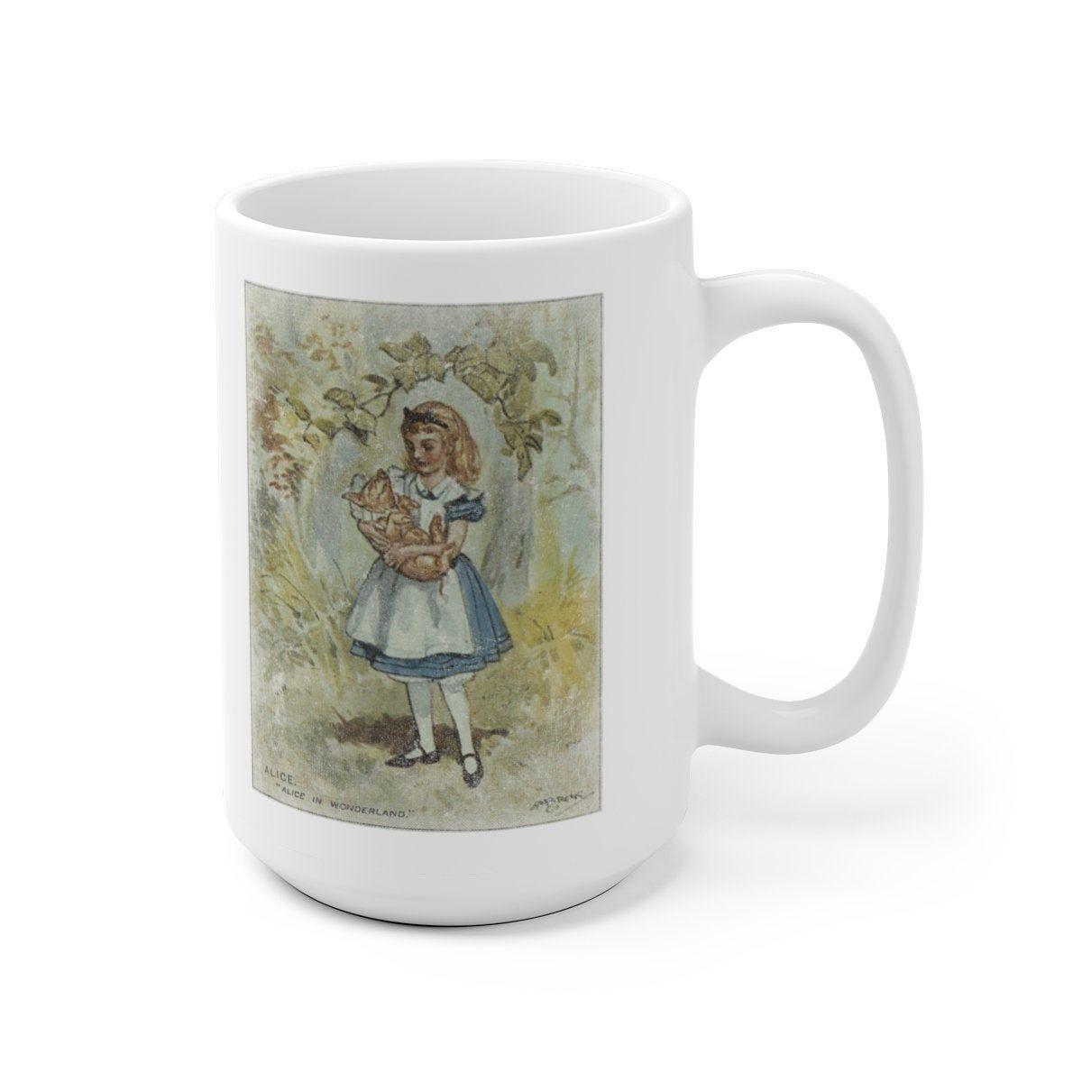 Alice in Wonderland Illustration Promo Trading Card Coffee