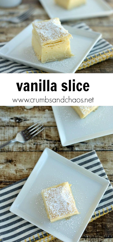 Vanilla Slice Australian Desserts Vanilla Slice Recipe Slices Recipes