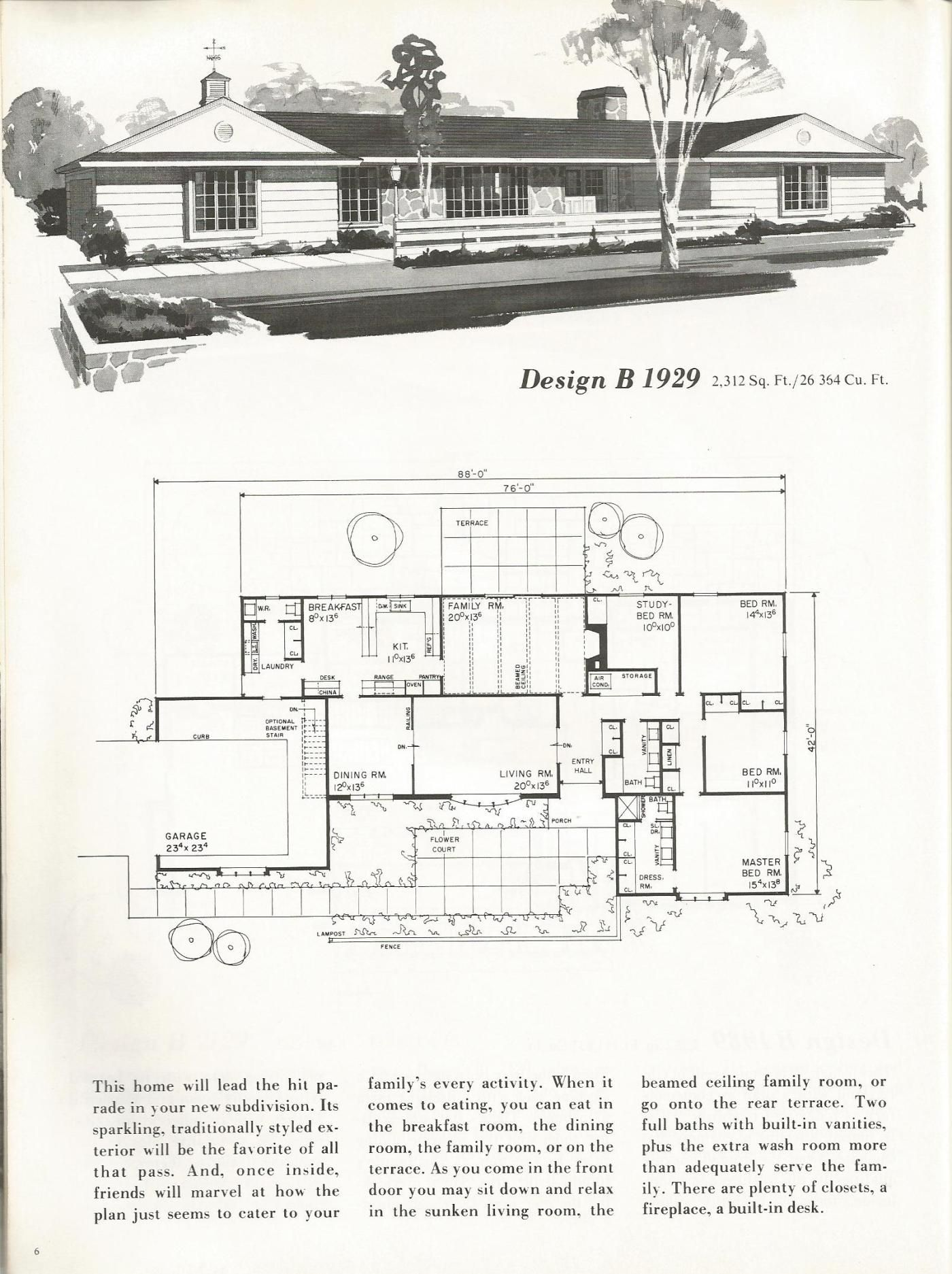 Vintage House Plans: Traditional Homes Over 2000 Square