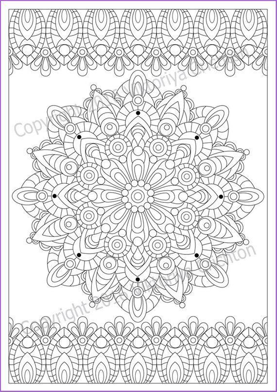 Coloring page 21, MANDALA (Zendala) for kids and adult ...