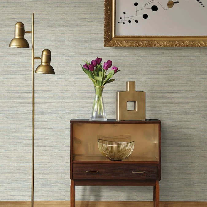 Scott Living 30 75 Sq Ft Mist Vinyl Textured Abstract 3d Self Adhesive Peel And Stick Wallpaper Lowes Com In 2021 Peel And Stick Wallpaper Accent Wall Grasscloth Wallpaper