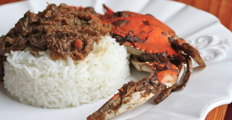Haitian Food Legume Legume with white rice...