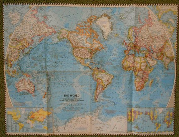 Map of the world national geographic 1960 by burlaprosesetc map of the world national geographic 1960 by burlaprosesetc gumiabroncs Gallery