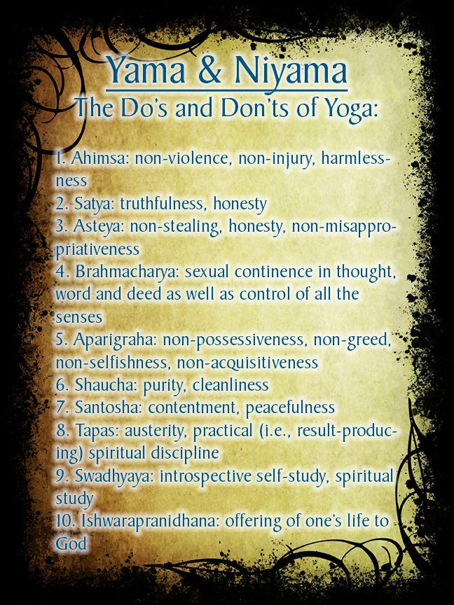 Yamas And Niyamas According To The Yoga Sutras Of Patanjali