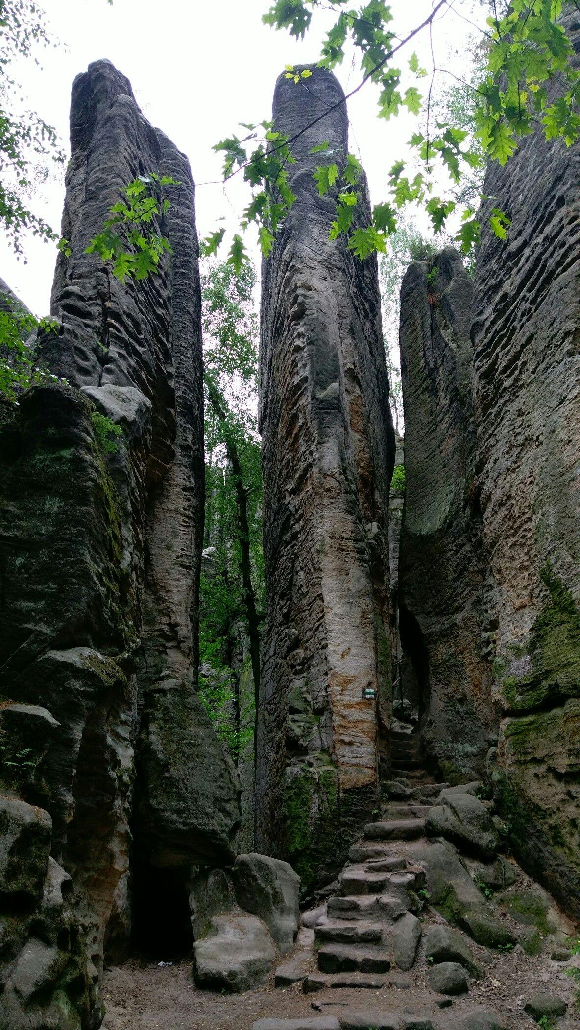 Hruboskalsko - sandstone rock city  Czech Republic