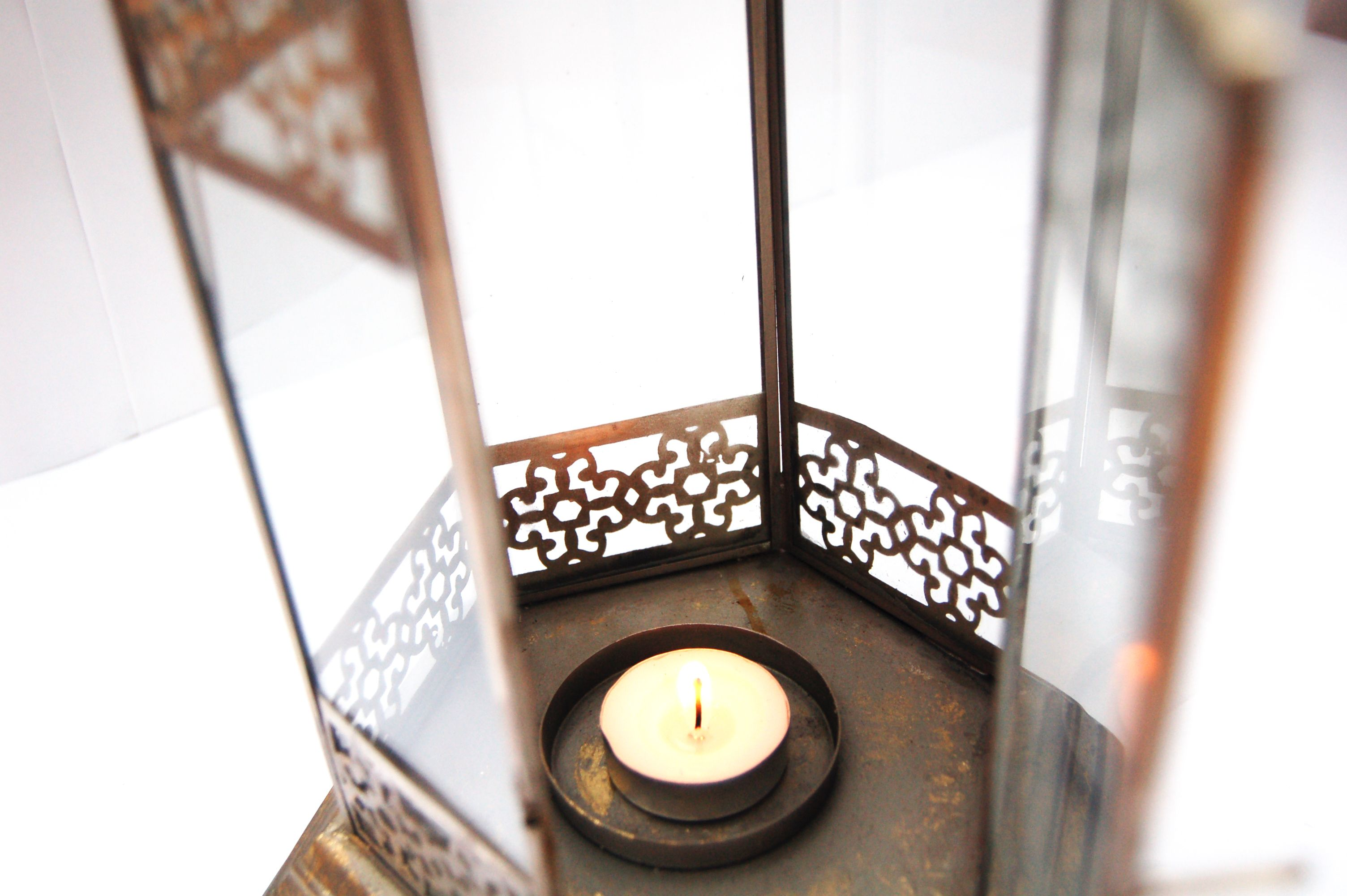 Light up your home with this beautifully crafted gold leaf lantern with stunning cut out design.     www.revive-me.com