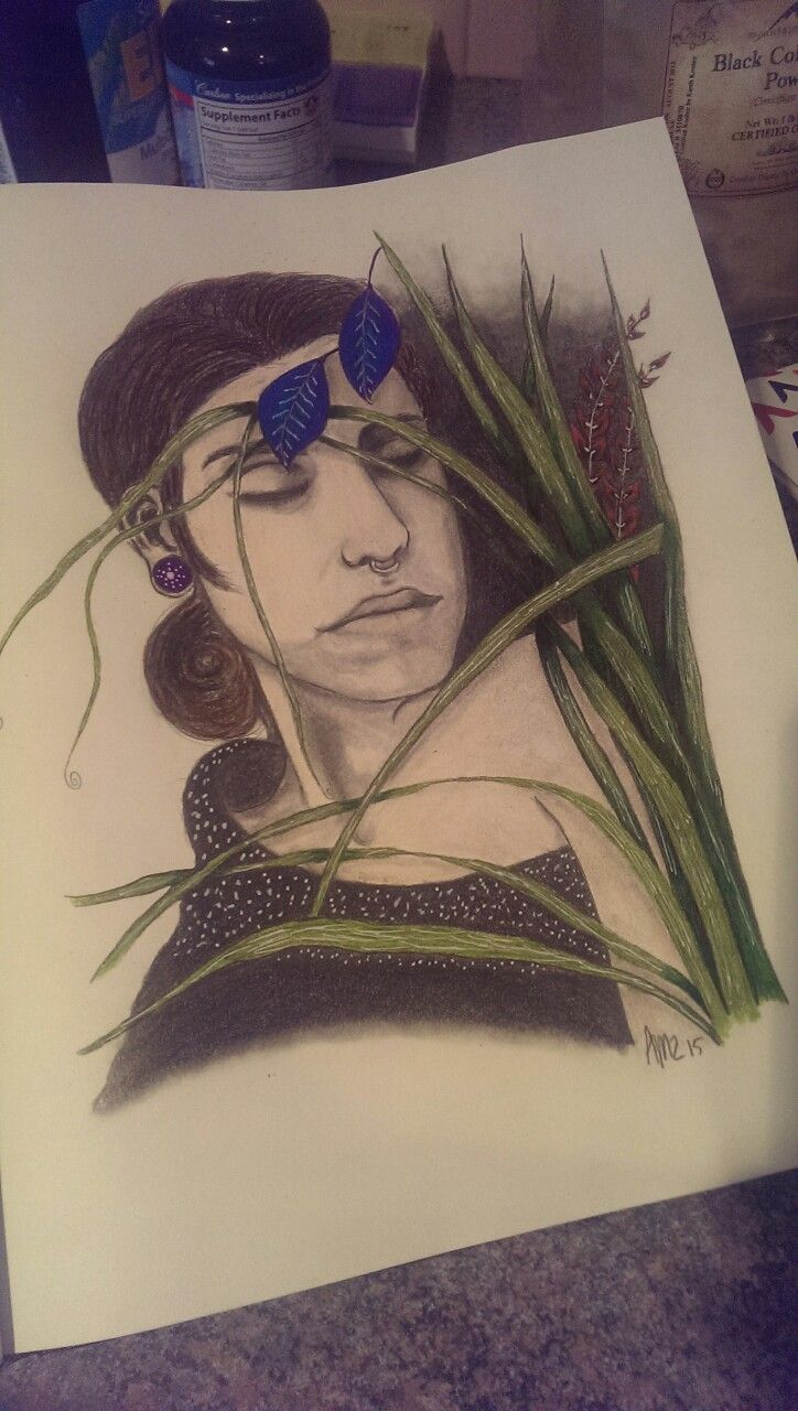 In the Garden 2015 - Final by Amy Suzanne Taggart aka Amz  #amzart #artist #artwork #sketch #drawing #art #illustration