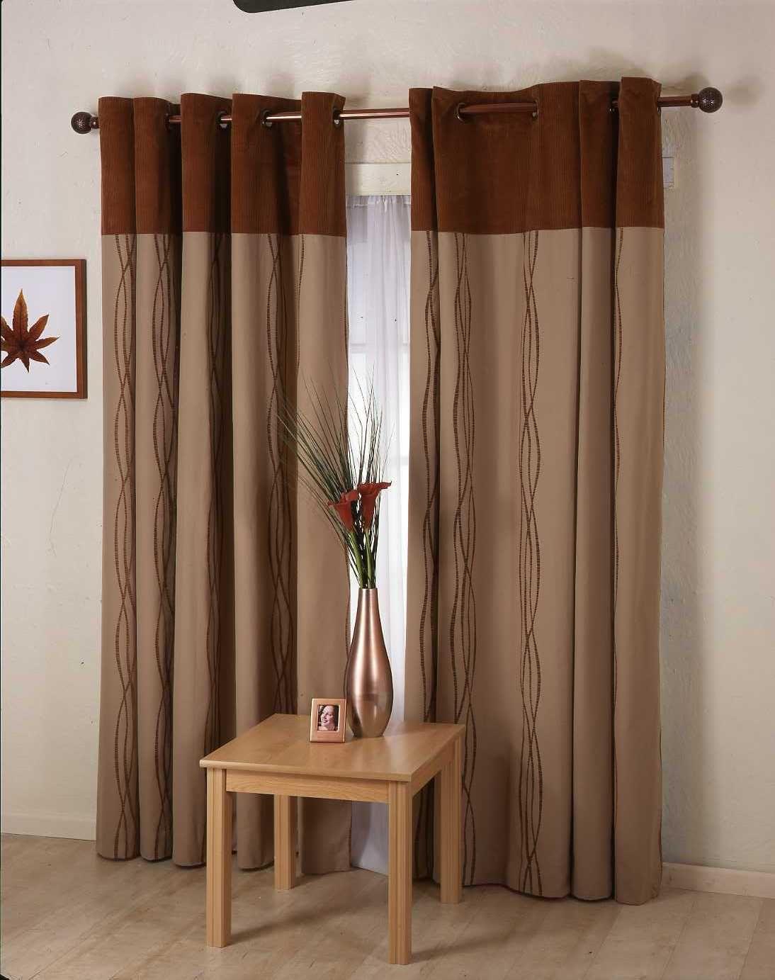 Wonderful brown curtain ideas modern shading living room decor
