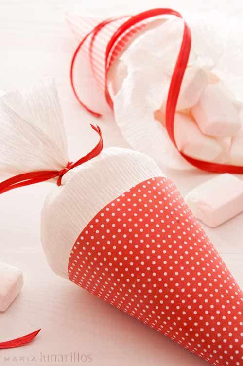 Conos de papel paper cones pinterest conos de papel - Hacer conos papel ...