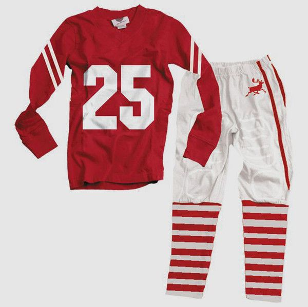 Bunnies Picnic - Wes and Willy Christmas Football Style Pajamas for Boys and Girls - Boutique Clothing for Girls and Boys