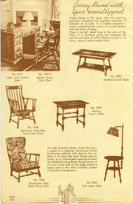 Cushman Catalog 1937 Colonial Furniture Vintage House