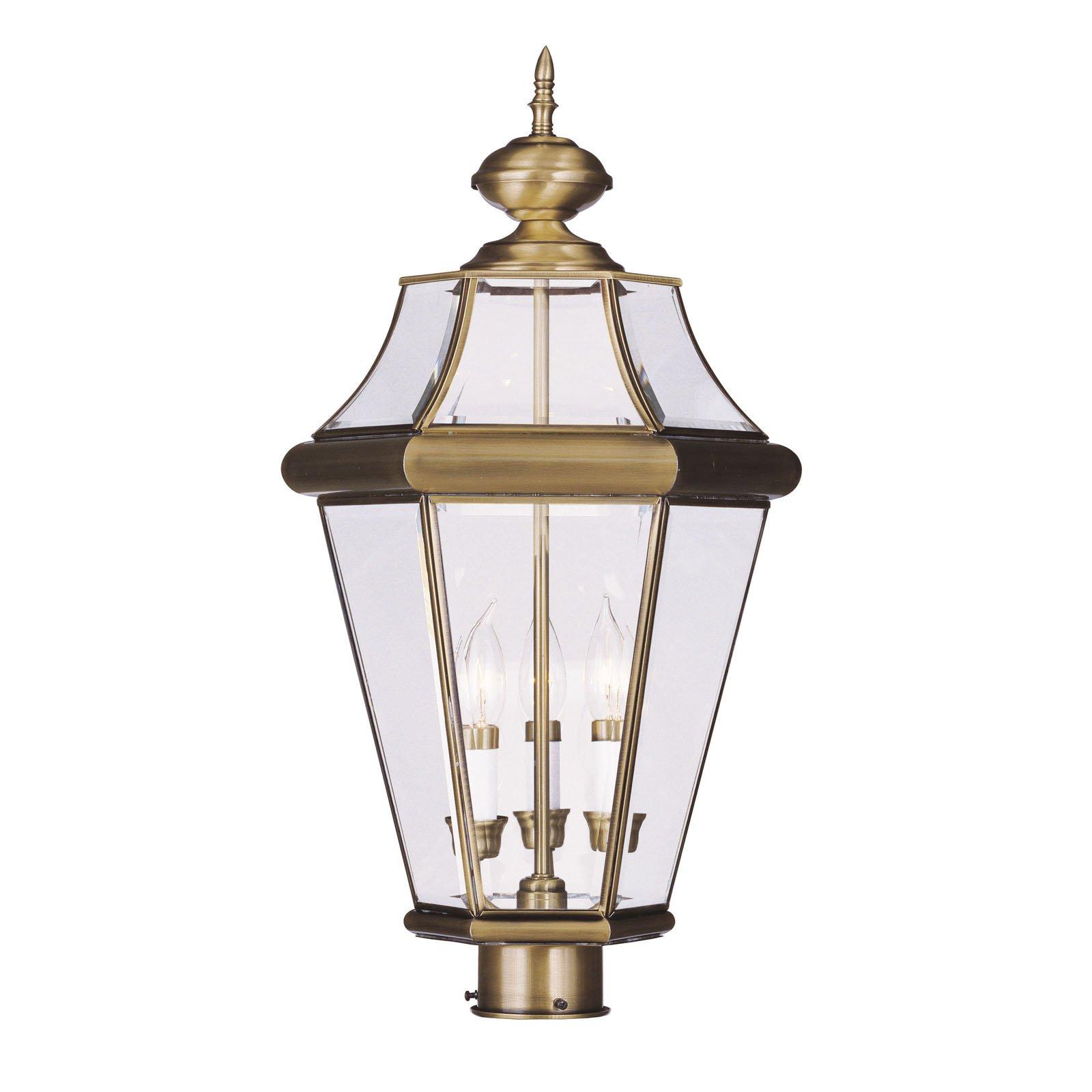 Photo of Livex Georgetown 2364-01 Outdoor Post Lantern