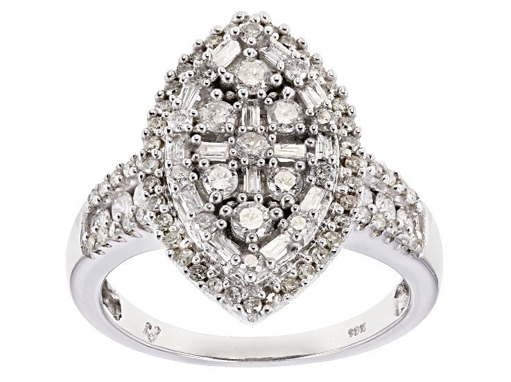 White Diamond 10k White Gold Ring 1 00ctw Docn555 White Gold White Gold Rings Gold Rings
