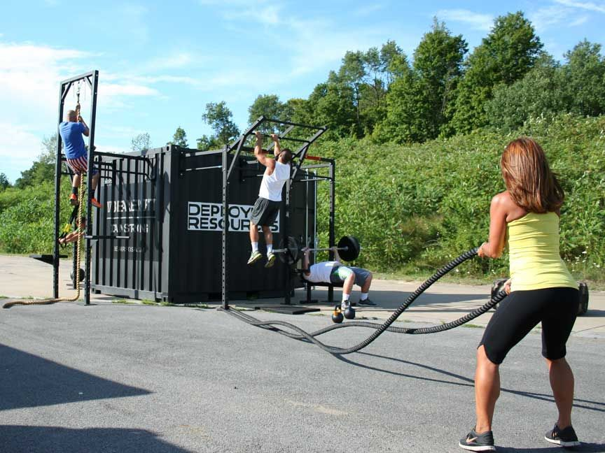 Image result for shipping container gym home