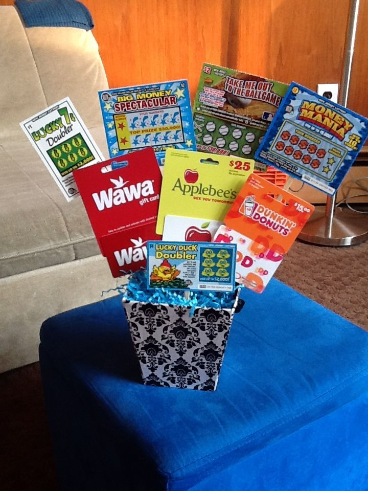 Gift Card Lottery Ticket Basket Just The Picture I Used