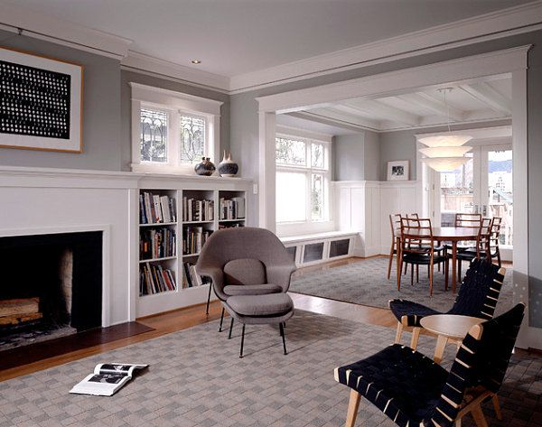 Living Room Modern Craftsman Interior Design