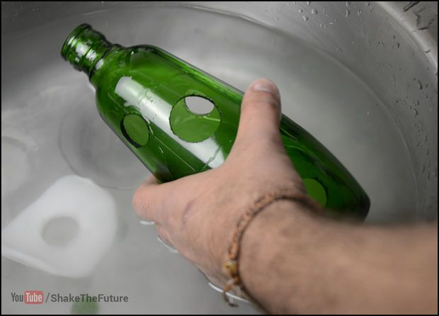 How To Drill A Hole In A Glass Bottle With Images Glass Bottles Drilling Holes In Glass Bottle