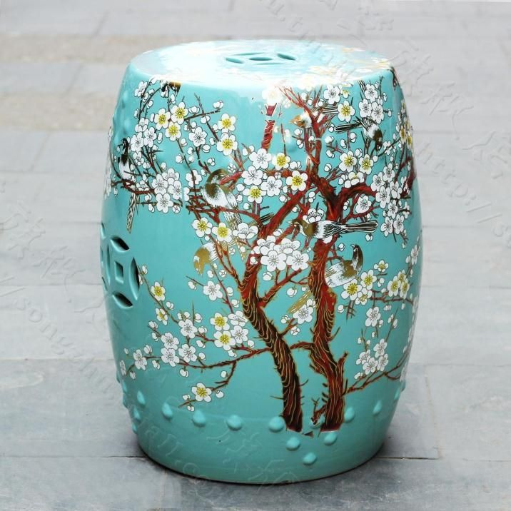 Fantastic Peach Blossom Painting Chinese Ceramic Garden Stool In 2019 Gamerscity Chair Design For Home Gamerscityorg