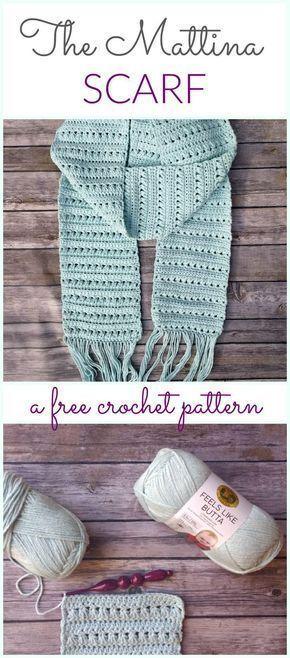 Mattina Crochet Scarf - A free pattern by | Crochet~Shawls/Scarves ...