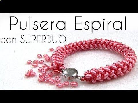 Pulsera Tubular con Superduo (Espiral)