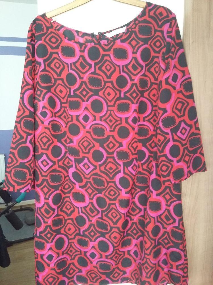 31db58aa02d TU/sainsburys retro 60's style tunic dress top...size 16..multi ...