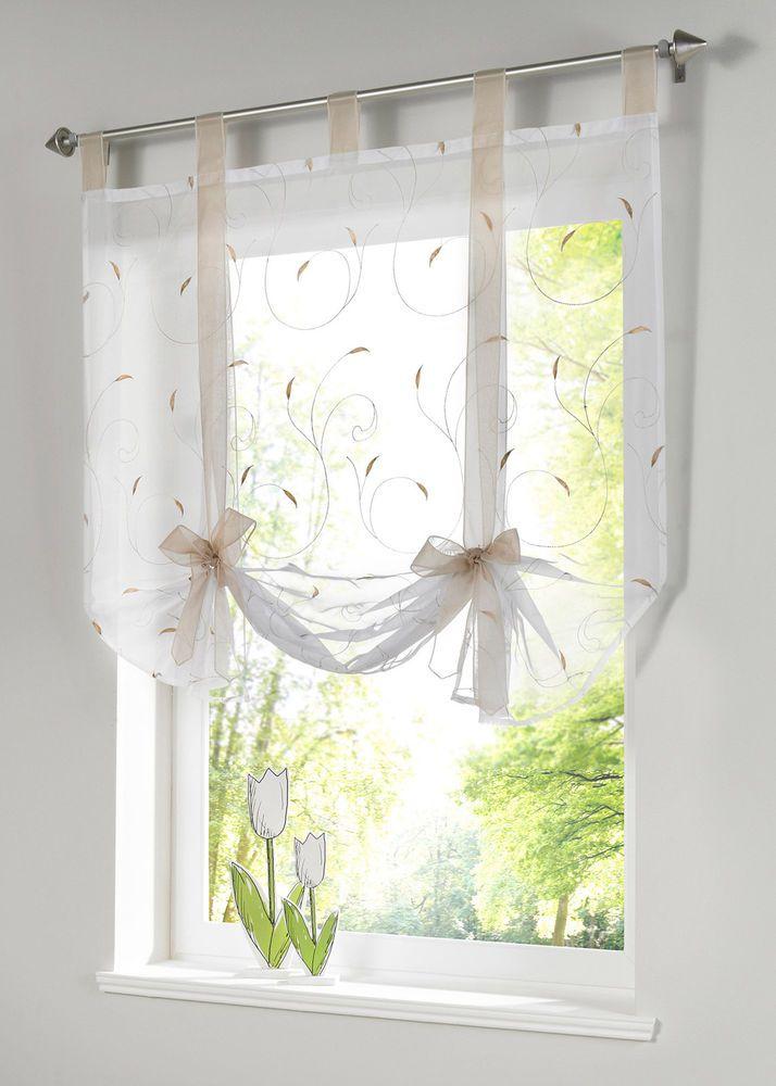 Küchenfenster Rollos gs fenster raffrollo gardinen vorhang raffgardine beige lässig