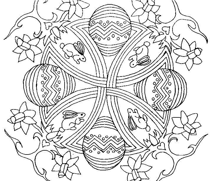 Dibujos para colorear para adultos Mandala de Pascua | Spring and ...