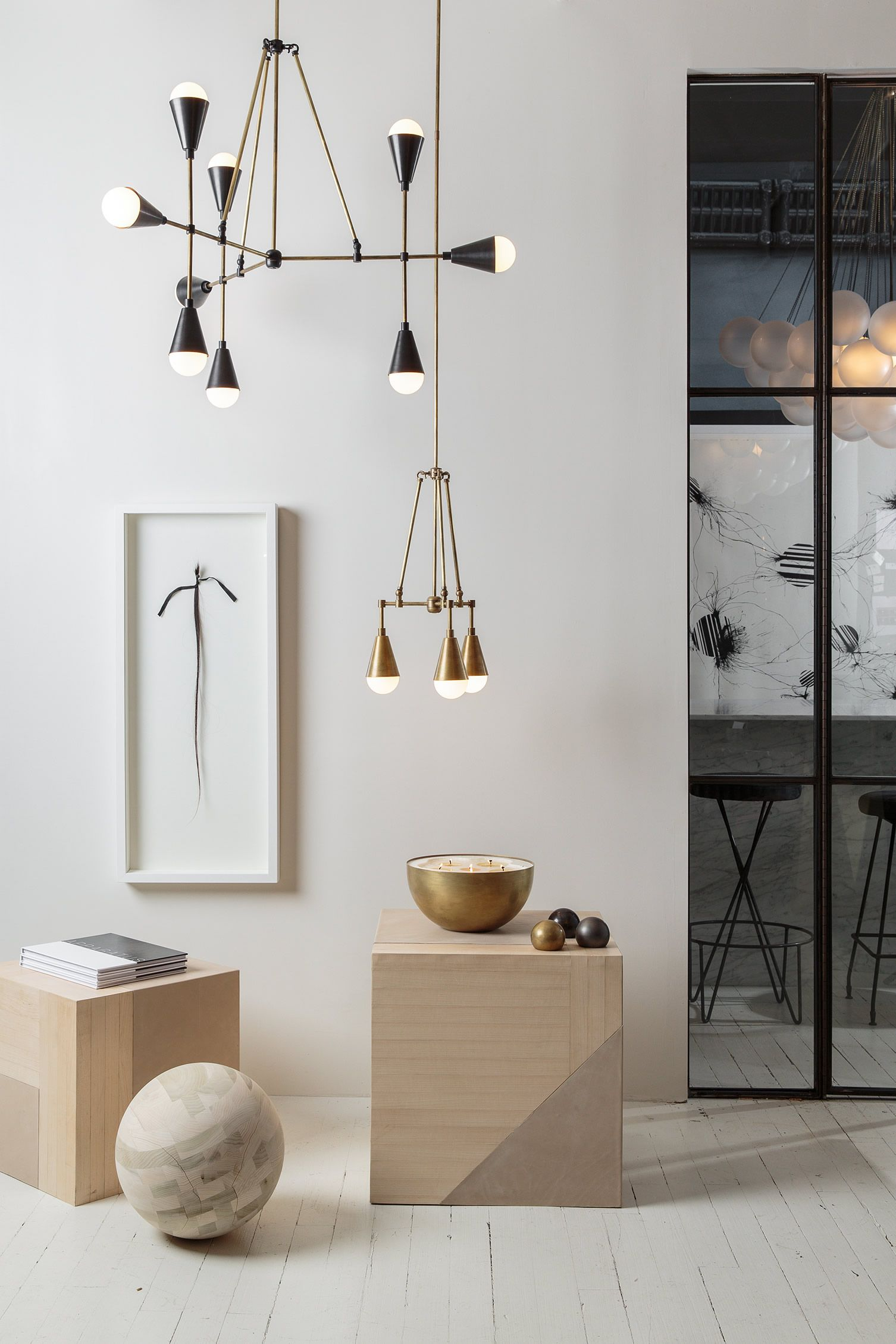 The Lights Are On And Everyone Is Home At Apparatus Manhattan Design Studio Modern Lighting Design Lighting Inspiration Ceiling Design