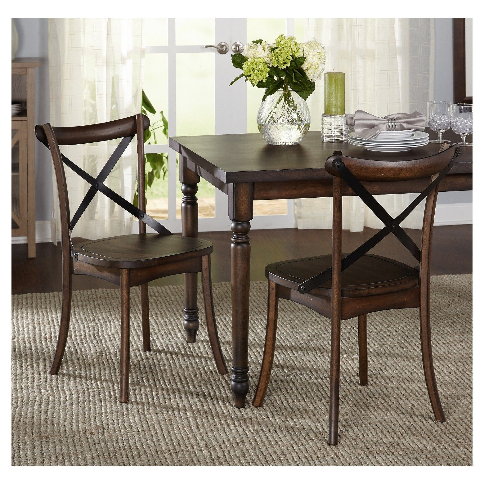 Constance Dining Chair Set Of 9   Dark Walnut   Target Marketing ...
