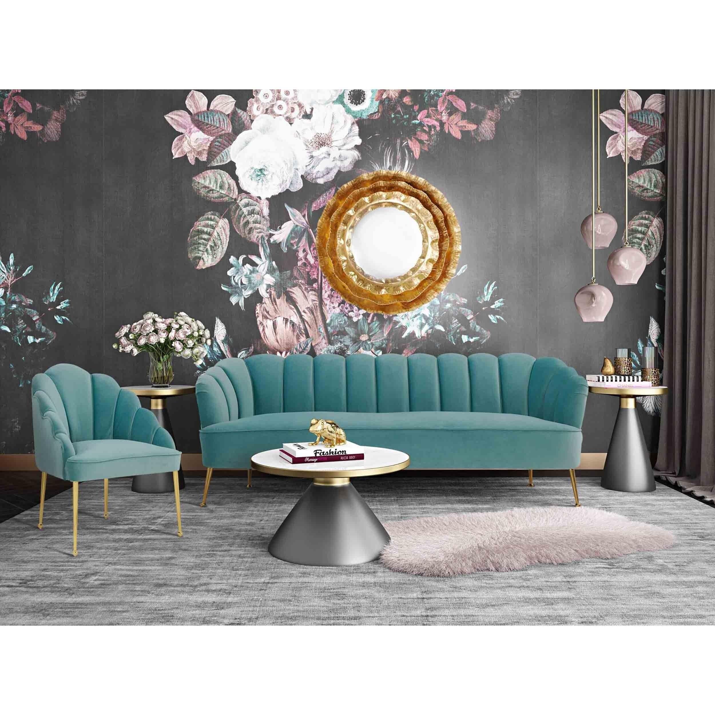 Ella Petite Sofa Sea Blue In 2021 Blue Velvet Chairs Living Room Sets Blue Velvet Sofa Petite furniture living room