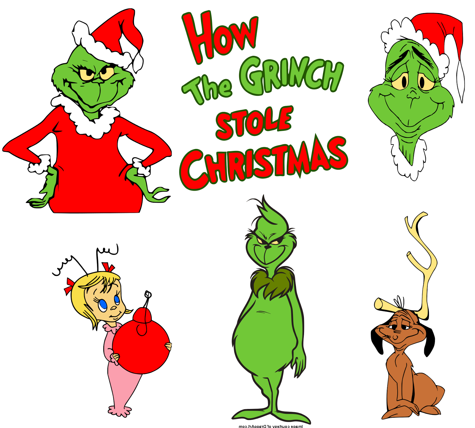 Krafty Nook Dr Seuss How The Grinch Stole Christmas SVG Files