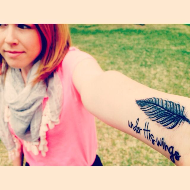 Psalm 91 Tattoo Designs For Men: My Feather Tattoo:) Psalms 91:4