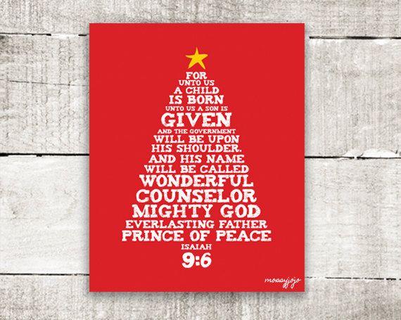 Bible Verse Christmas Tree