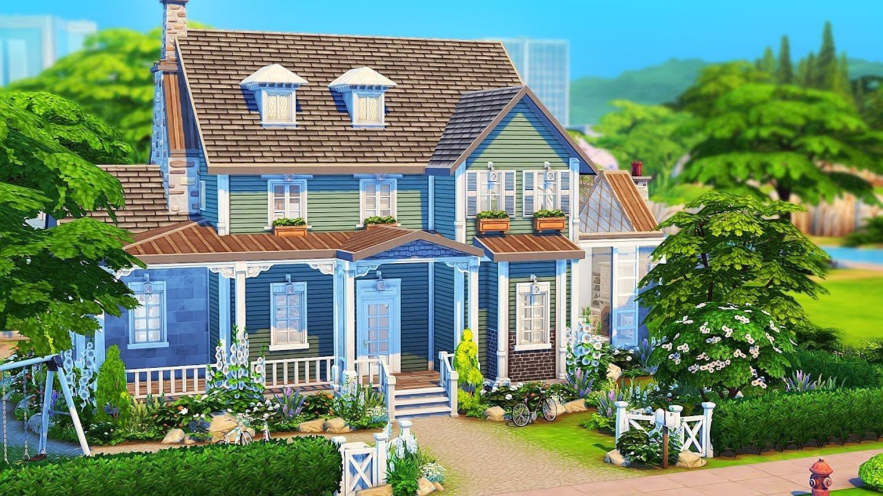 Foster Family Home The Sims 4 Speed Build Sims 4 House Design Sims 4 Family House Sims House Plans