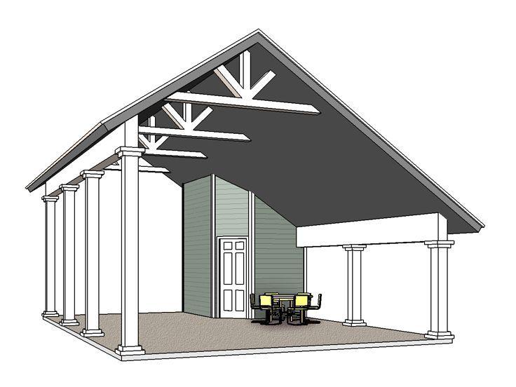 Rv carport plan 006g 0164 camper trailer pinterest for Rv carport plans