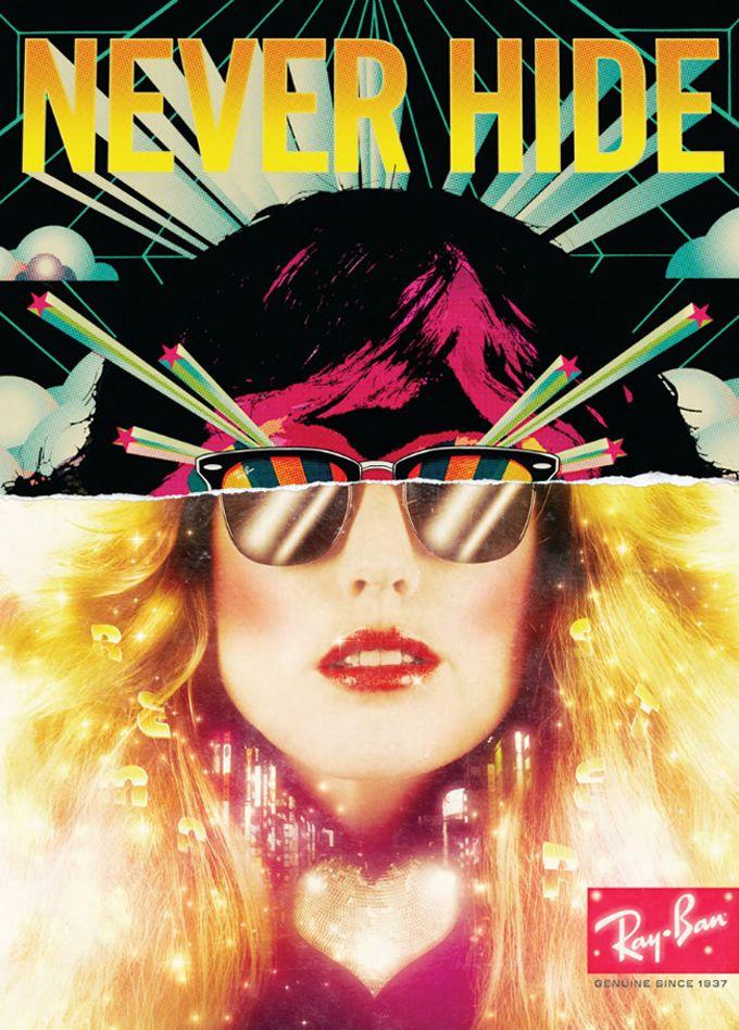 """Unindo o vintage ao futurista, a agência CutWater, de São Francisco, criou  esta série de incríveis cartazes para a marca Ray-Ban, sob o título de  """"Never ... 4eae126178"""