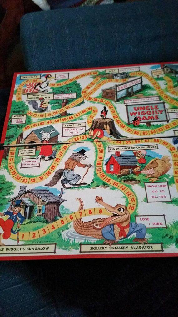 three vintage game boards by addiesartsyattic on etsy