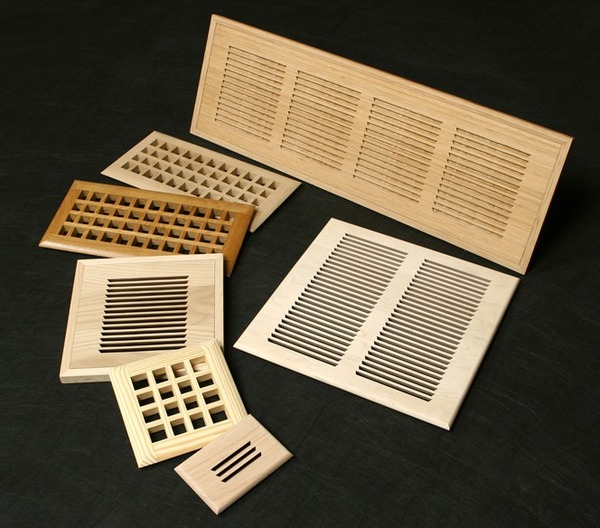 Custom Wood Registers, Air Returns, and Baseboards (With