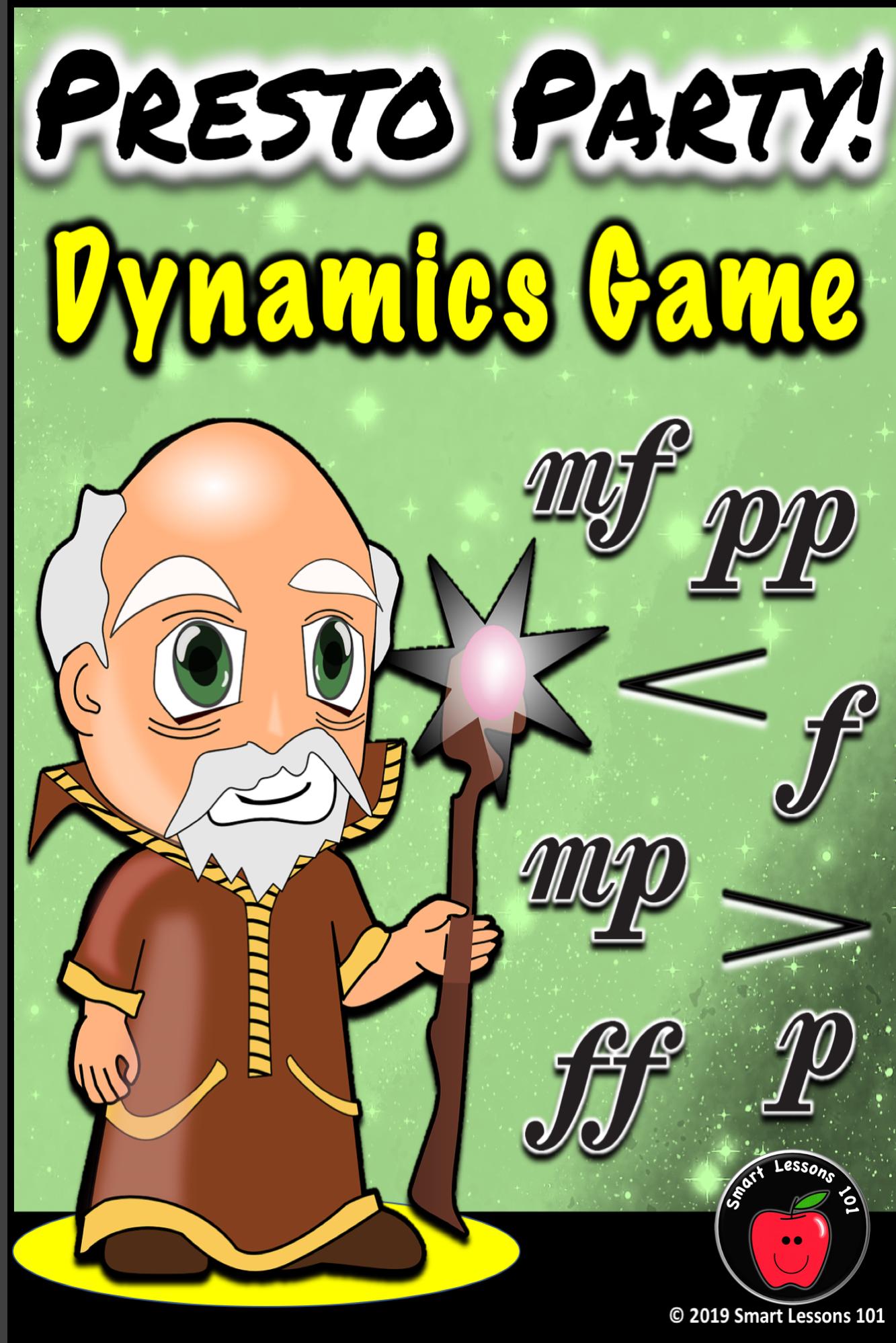 Music Dynamics Game Fun Presto Party Dynamics Music Game