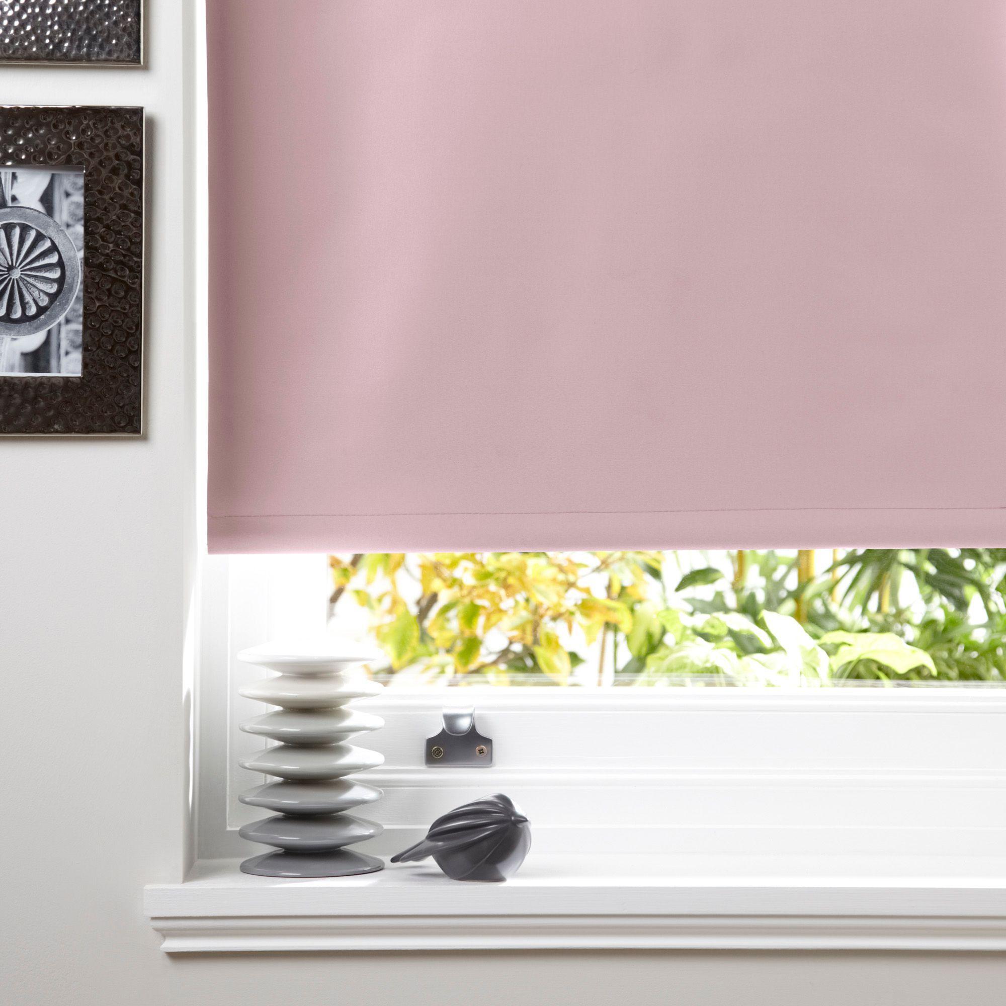 Colours Kona Light Pink Roller Blind L 1 6m W 600mm Departments Diy At B Q From 7 98 Blinds White Roller Blinds Blue Roller Blinds