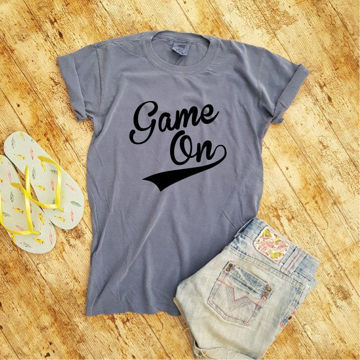 3c91f278f9e6e Game On Shirt. Comfort Colors Shirt. Game Day Shirt. Game Day Tee ...