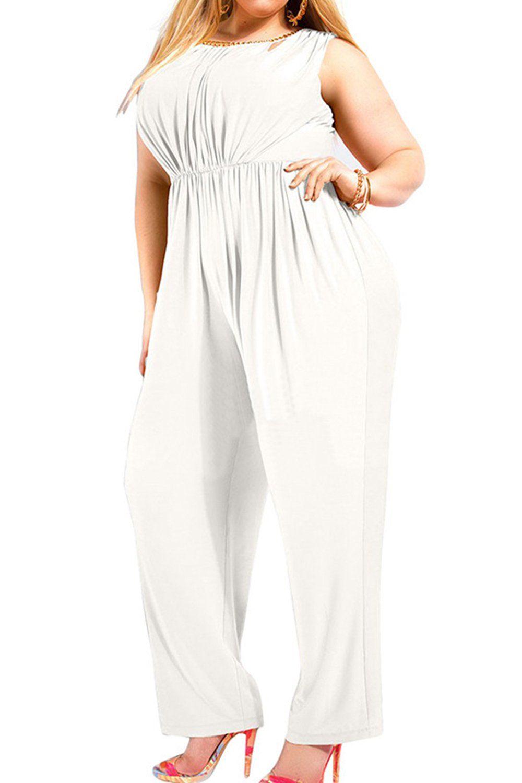 22+ Plus size white jumpsuit ideas ideas