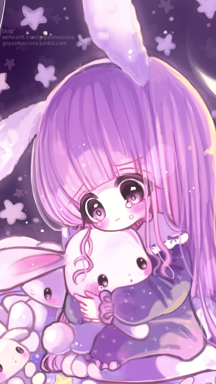 anime, art girl, baby doll, baby girl, background, beautiful