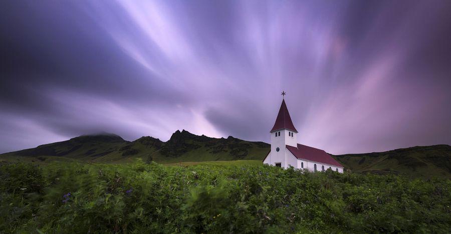 Vik Church at Night (Iceland) by Eirik Sørstrømmen / 500px
