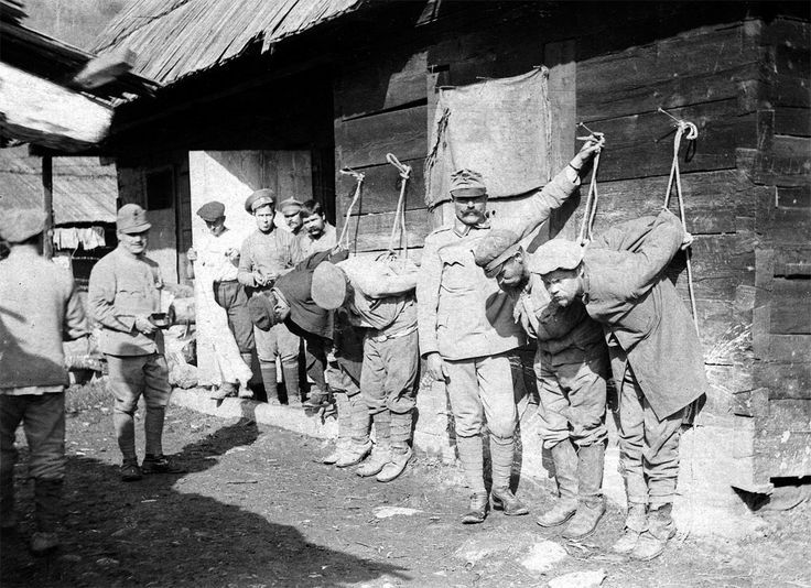 """historywars: """" Austrian soldiers mete out punishment to Russian prisoners. Austria-Hungary took over a million prisoners of war during the Great War, the vast majority being Russians. Using POW..."""