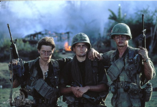 Willem Dafoe, Charlie Sheen and Tom Berenger / Platoon.