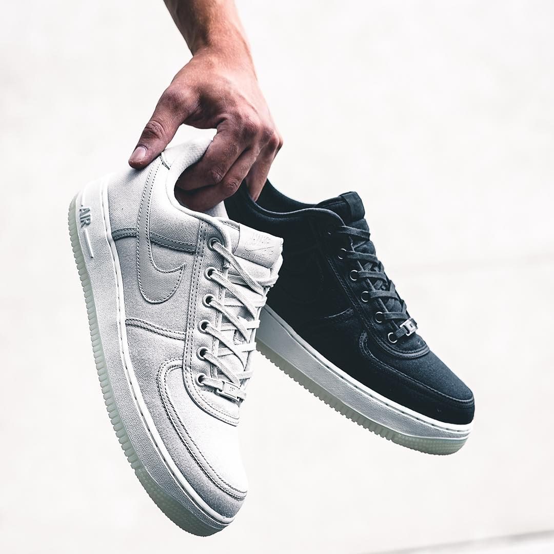 brand new d6a46 12d4c Nike Air Force 1 Low Retro QS Canvas Light Bone   Black Credit   43einhalb —