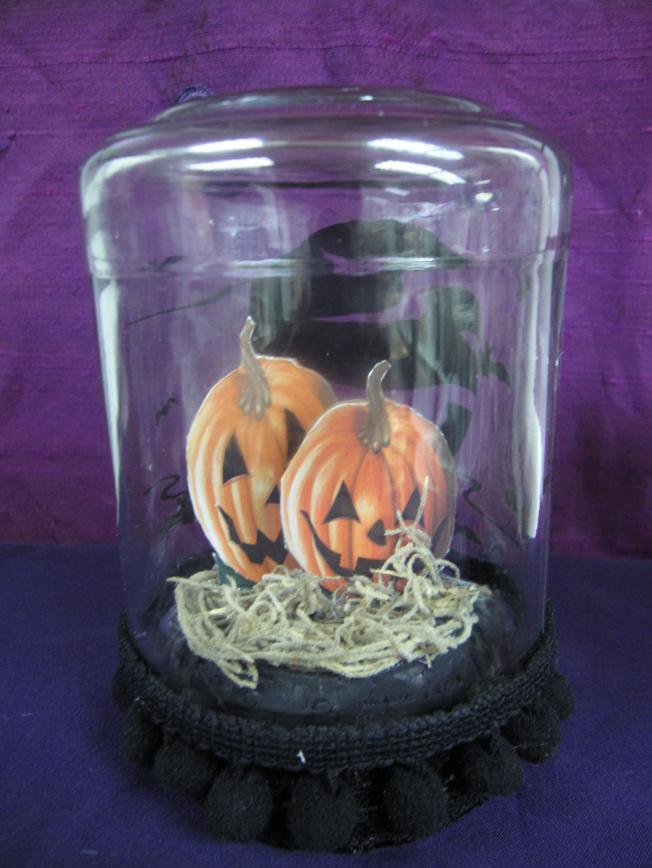 Mayonnaise Jar Halloween Terrarium The Pumpkin Twins My Creation